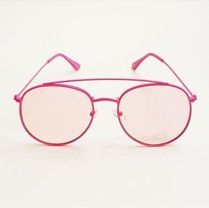 Neon Pink Aviator Sunglasses